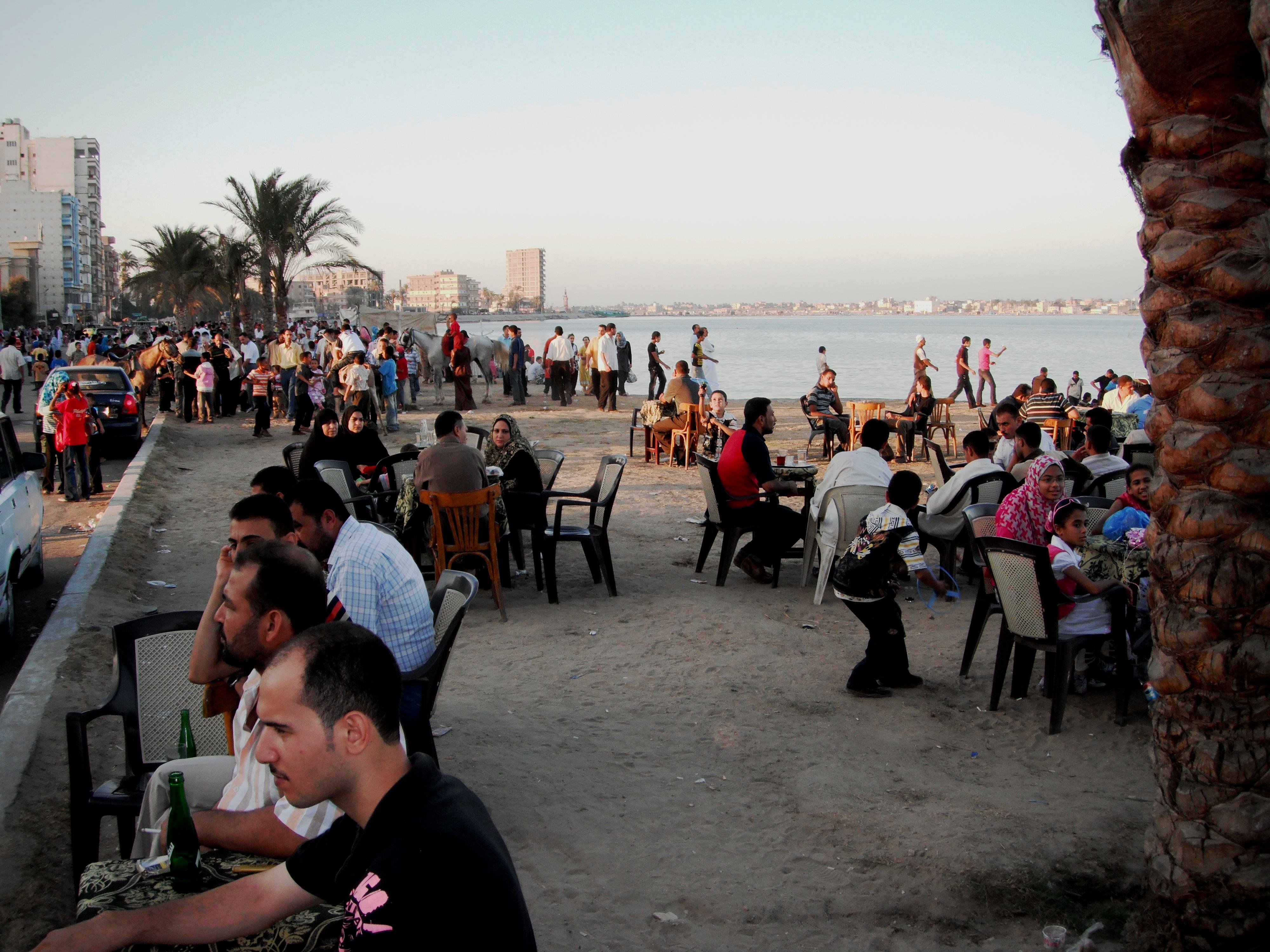 La corniche du Nil à Rosette